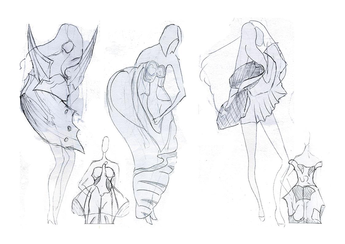 D)-Designentwicklung-Figurinen
